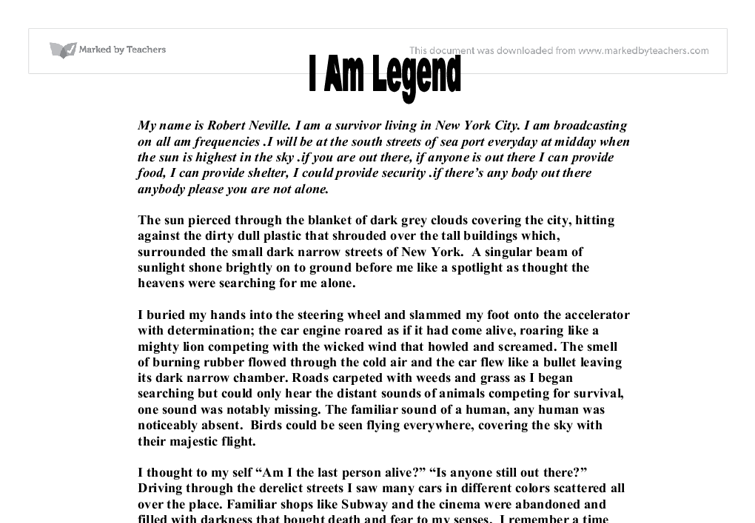 a personal analysis of i am legend a book by richard matheson Richard matheson published a story i am legend in 1954 the year is 1975, a virus starts to spread after the latest war is finally over the speed of the.