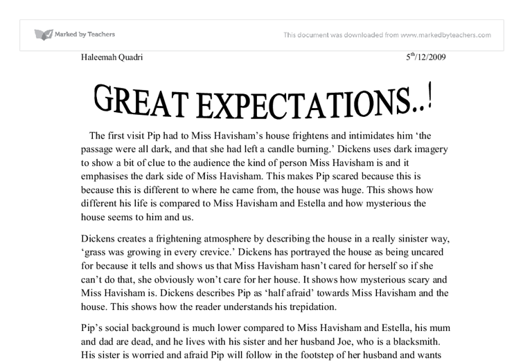 great expectations essay notes 1-16 of 33 results for cliff notes great expectations cliffsnotes on dickens' great expectations jun 13  peer-reviewed journal articles and critical essays.
