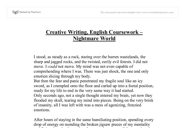 Creative writing english gcse coursework