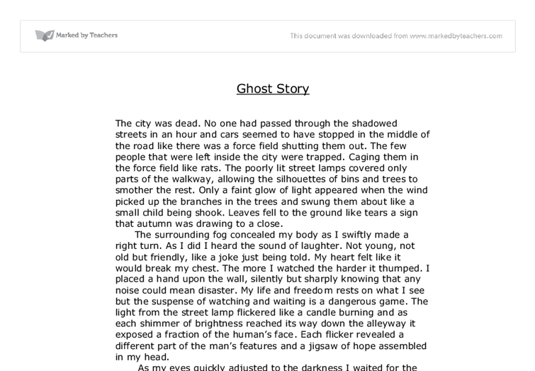 essay writing ghost story