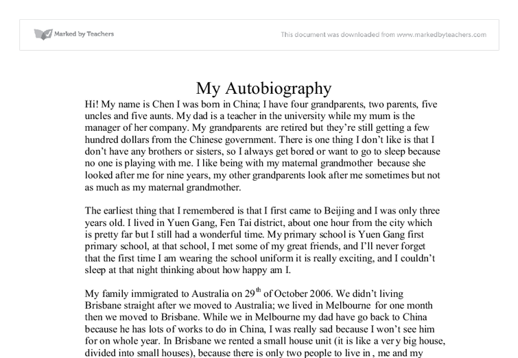 Sample of biographical essay