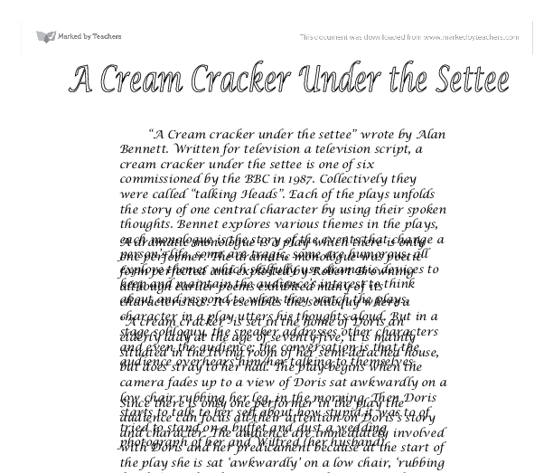 cream cracker under the settee essay Cream cracker under the settee essay help cream cracker under the settee essay help cream cracker under the settee essay help l e , berk 1870 to 1950, the problem of generalizability up in pioneer america.