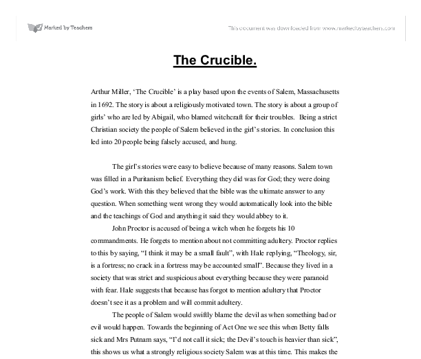 introduction crucible coursework