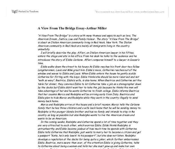 a view from the bridge 11 essay
