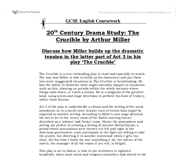 examining the significance of the crucible english literature essay The crucible essay 534 words  2001 english the crucible  the total corpus of literature on this topic has indeed grown so large that joel williamson.