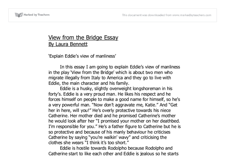 a view from the bridge essay notes Download ebook a view from the bridge: york notes for gcse pdf for free  essay plans and specialist guidance on understanding the questions you'll be asked.
