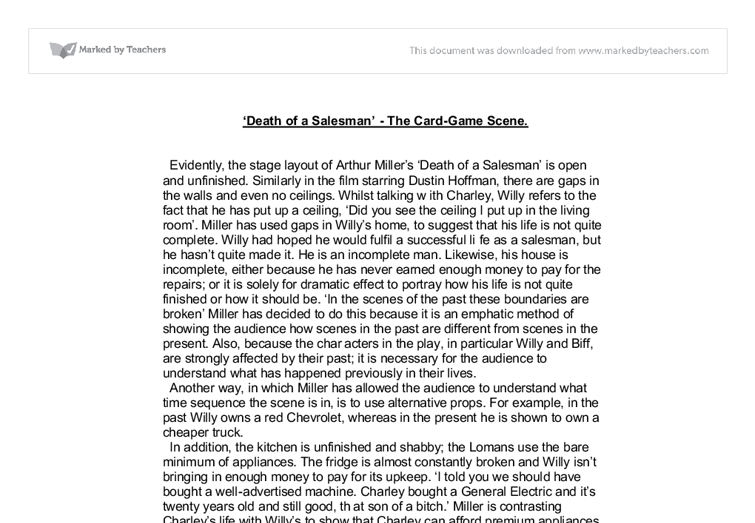 arthur miller essay on death of a salesman