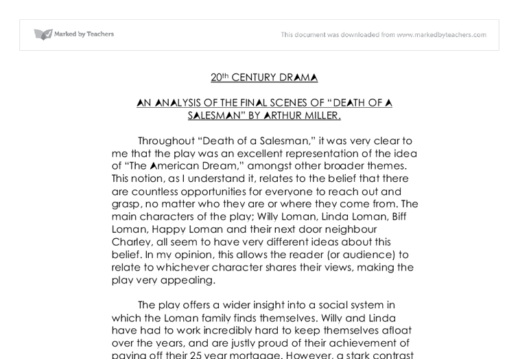 an analysis of american drama on death of a salesman American dream and death of a salesman research papers look at arthur miller's play as an example of the failed american dream sample american literature research paper topics are listed at paper masters.