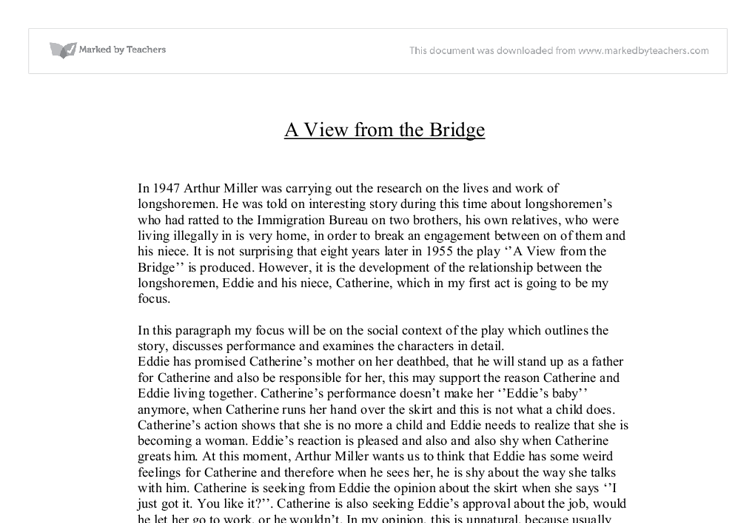 a view from the bridge act 2 essay
