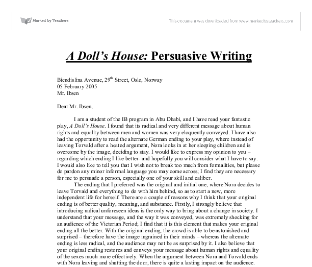 Essay on my doll house