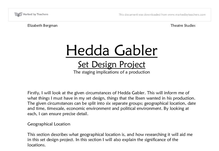 an audiences responce to hedda gabler essay The non essential characters of hedda gabler english in this essay i will be exploring some of and this shocks the audience hedda does not think.