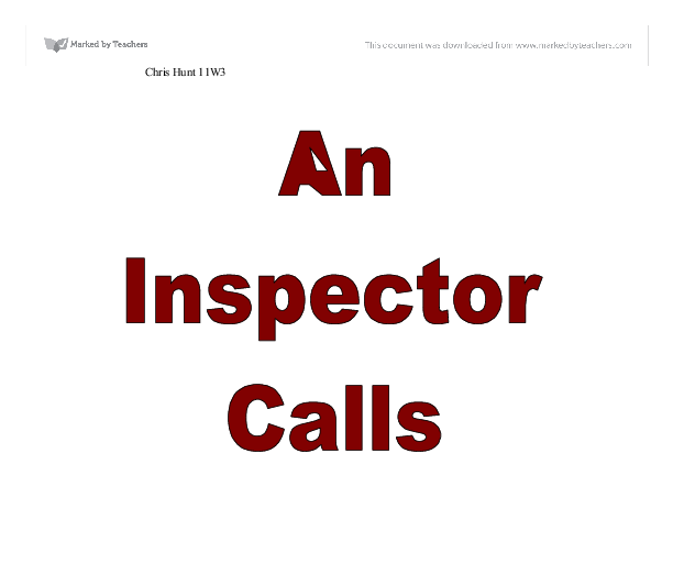 essay on an inspector calls by j.b. priestley An inspector calls - sample essay   throughout 'an inspector calls', the parents are far more reluctant to alter themselves according to j b priestley's.