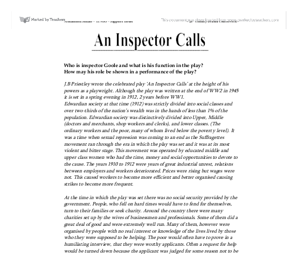 an inspector calls responsibility essay introduction
