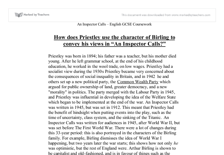 an inspector calls essay intro Introduction to inspector calls essay - cmpp studios essay about what dramatic devices were used in the what is the significance of inspector goole in an inspector.