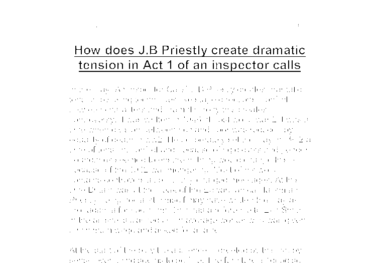how does j b priestly create dramatic tension in act of an document image preview