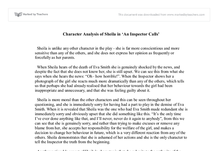 Character analysis essay college