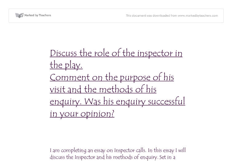 priestleys purpose essay Essays and criticism on j b priestley, including the works the good  companions  background, and allow them to struggle together toward their  various goals.