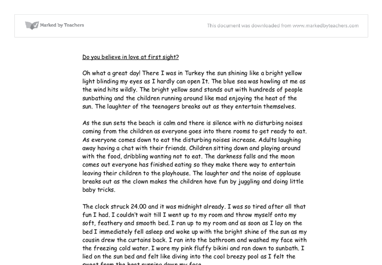 love story gcse english marked by teachers com document image preview
