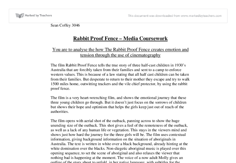 rabbit proof fence study guide A study guide rabbit-proof fence: introduction geraldine carrodus, libby tudball and tammy walsh rabbit-proof fence is a powerful film based on the true story and experiences of three young aboriginal girls, molly, gracie and daisy, who were forcibly taken from their families in jigalong, western australia in 1931.