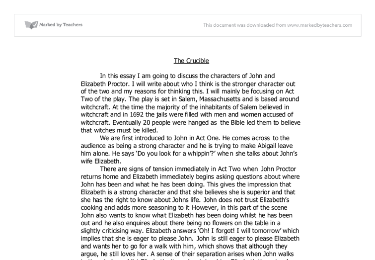 the crucible english coursework Im doing the coursework now, the question is - explore the way in which miller builds tension in the court house scene in the crucible any tips i coul.