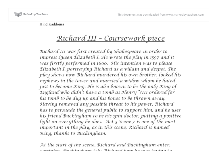 richard iiilooking for richard essay Sample essays language of satire how does pacino make richard iii accessible to looking for richard keeps the original historical context intact using.