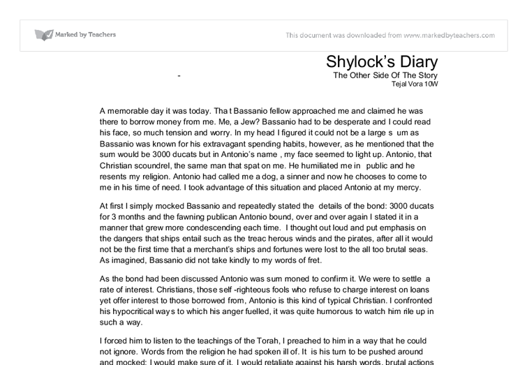 character analysis of shylock