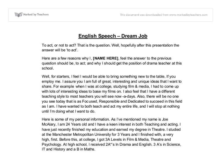 my ambitions and dreams essay
