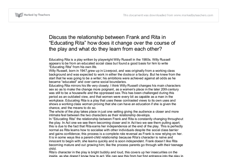 Frank and ritas relationship essay