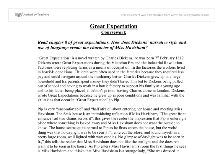 Great Expectations Essay Chapter 8