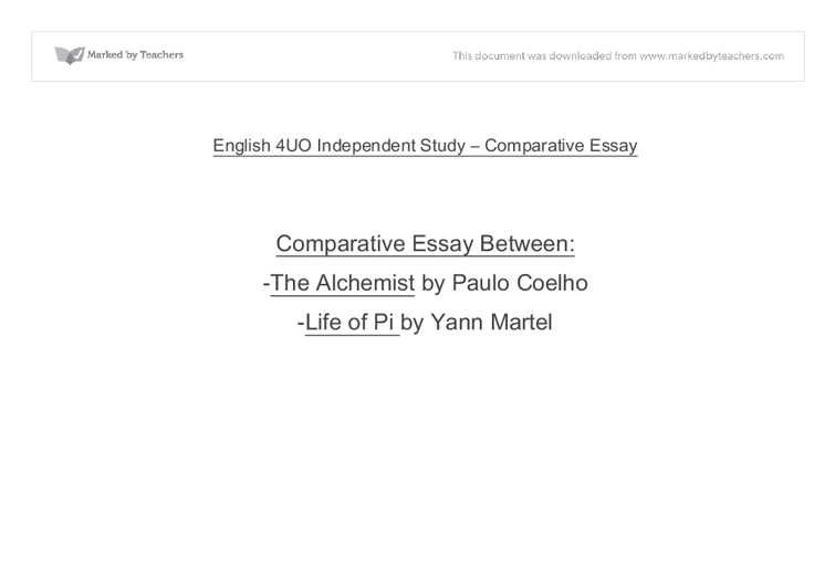 english uo independent study comparative essay gcse english  document image preview