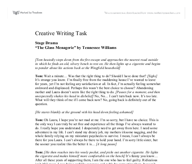 creative writing task finding religion essay