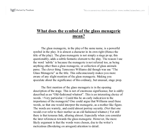 the glass menagerie amanda analysis essay The glass menagerie is a play that is very important to modern literature  the  apartment that amanda, laura, and tom wingfield share is in the middle of the.