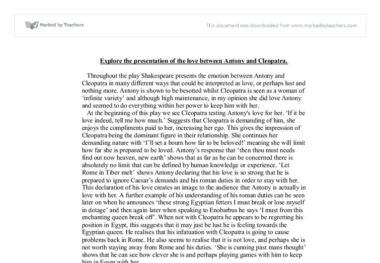 antony cleopatra essays 03071999  essays and criticism on william shakespeare's antony and cleopatra - antony and cleopatra (vol 70.