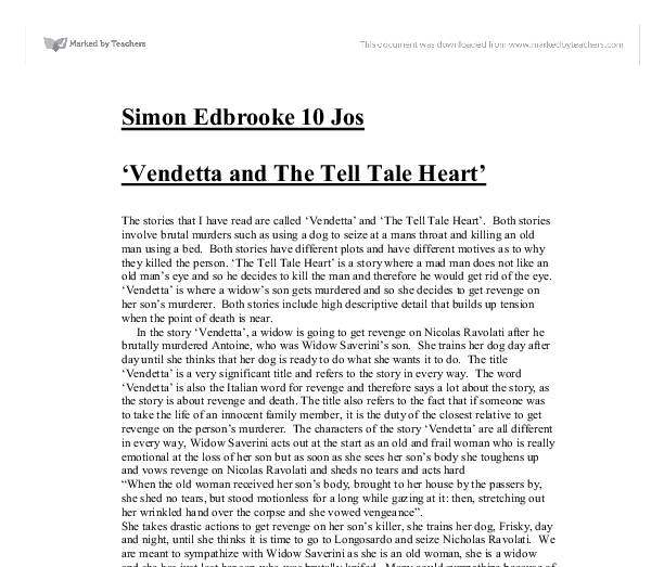 "tell tale heart essay question This also makes us question whether he is really insane as he as he tell us that he ""loved the old man"" and get more essays: the tell-tale heart man's."