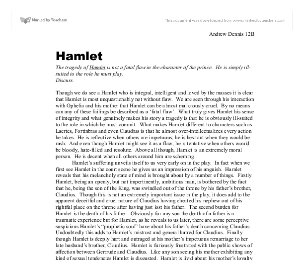 hamlet and gertrude love or hate essay