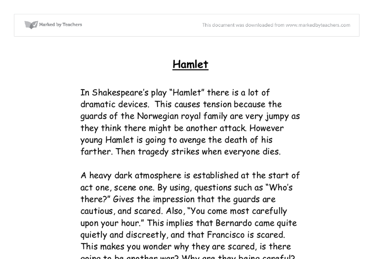 irony in hamlet essays for free