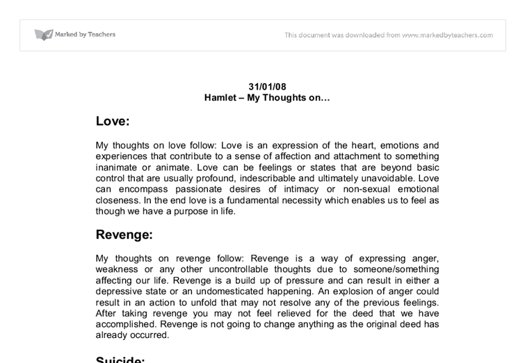 hamlet isolation essay Find hamlet madness example essays, research papers, term papers, case studies or speeches hamlet  hamlet isn't mad his isolation from love.