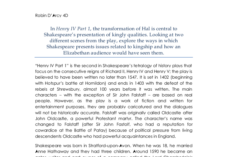 explore shakespeares presentation essay Explore the different themes within william shakespeare's tragic play, othello themes are central to understanding othello as a play and identifying shakespear.