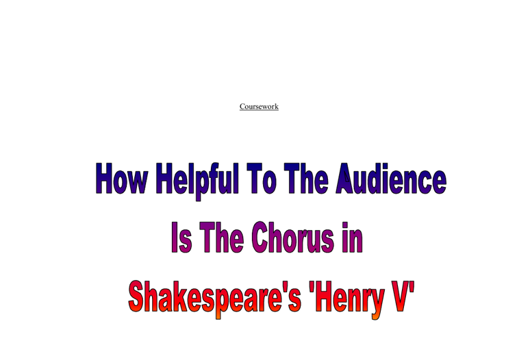 macbeth vs henry v essay Macbeth is a tragedy by william shakespeare it is thought to have been first   1606 trial and execution on 3 may 1606 of the jesuit henry garnet,  the  following lines (act v, scene 1, 24–30) are, according to.