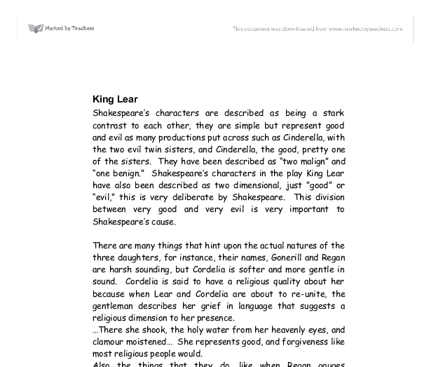 good vs evil in king lear 2 essay 'good vs evil in king lear' that is the reason why they will gladly help you deal with buy essay of any difficulty ' posted by zoe charles at 9:52 pm.