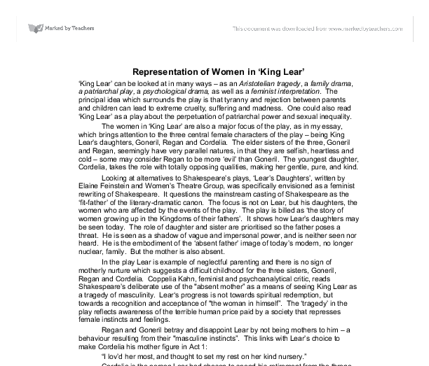 King Lear Critical Essays