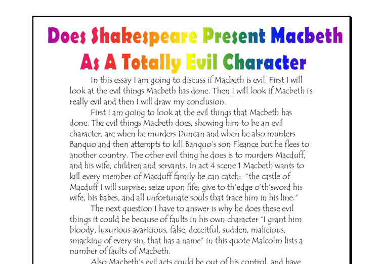 macbeth temptation essay