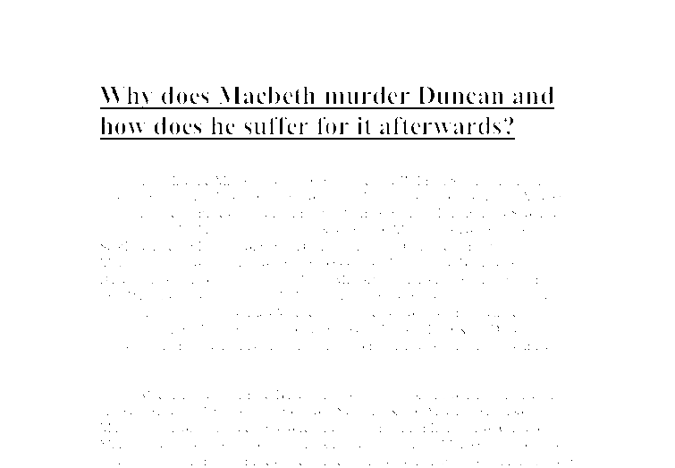 who killed duncan in macbeth essay Introduction of TOPIC