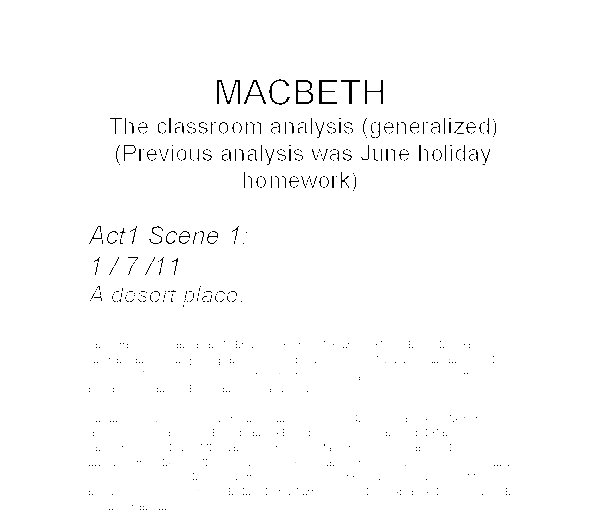 what is the setting of the opening scene in macbeth