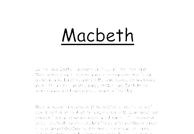 great macbeth thesis Macbeth thesis macbeth macbeth's want for power causes him to commit acts of murder that brings great pain for the people of the kingdommore.