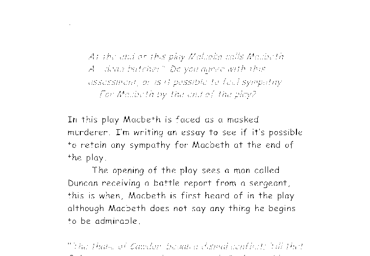 the opening sections of macbeth on the estate essay