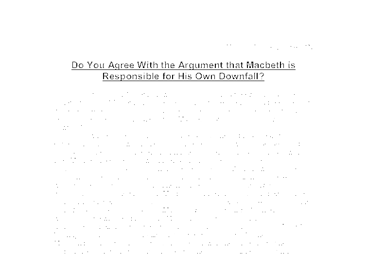 Macbeth downfall essay