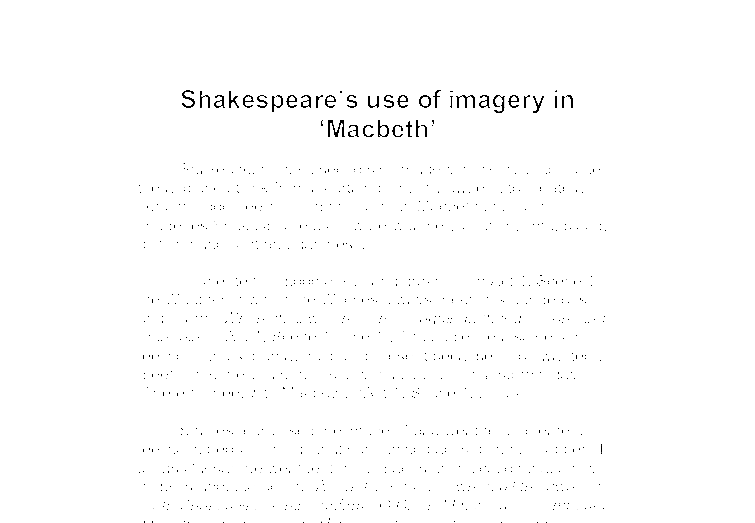 an analysis of the importance of image in macbeth a play by william shakespeare Macbeth william shakespeare table of contents play watch the macbeth video sparknote read plot overview summary & analysis act 1, scenes 1–4 act 1.