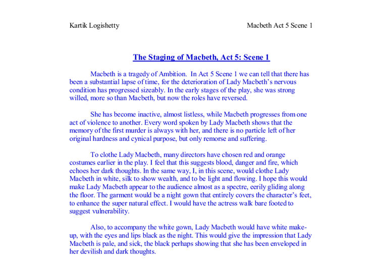 what is your view of lady macbeth essay Home → sparknotes → shakespeare study guides → macbeth → study questions macbeth william suggested essay topics and it is lady macbeth's deep.