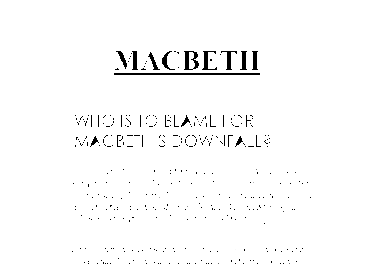 Who is to blame for the tragedy of macbeth essay